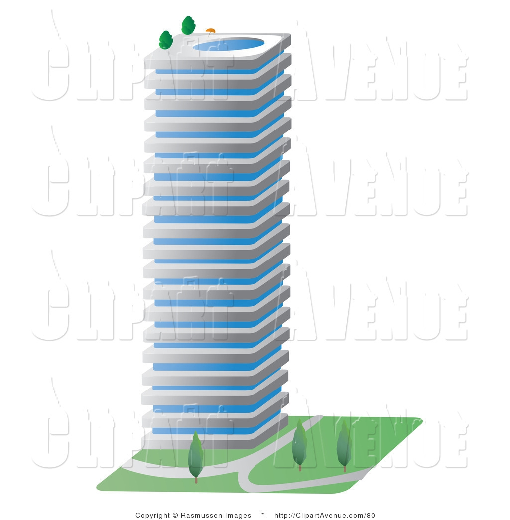 Tall building clipart 3d.