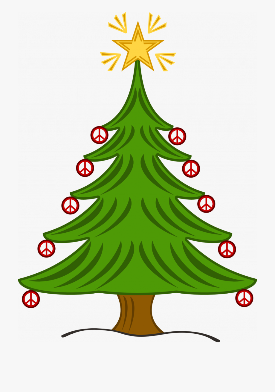 Tall Skinny Christmas Tree Clipart Symbolic Meaning.