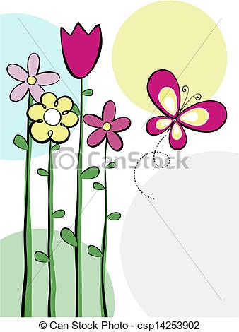 Vector Clipart of flowers vector border.