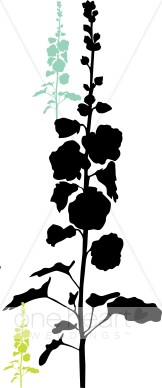 Tall Floral Clipart.