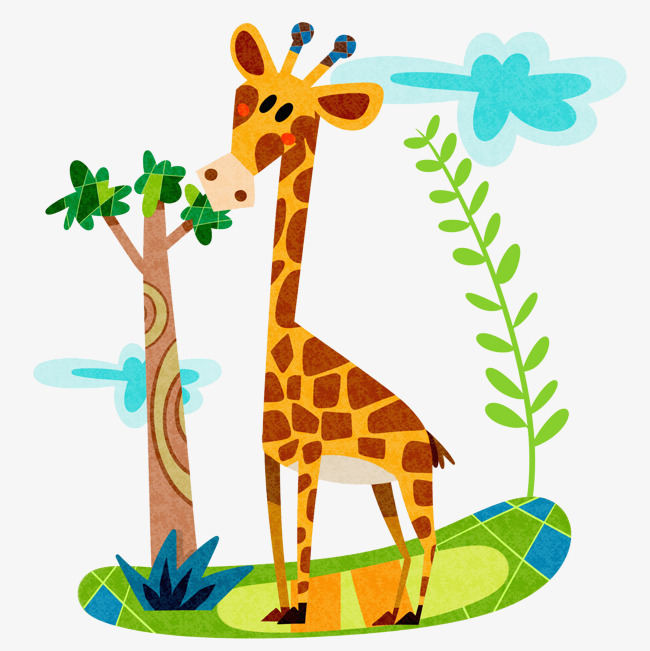 Giraffe Eating Clipart.