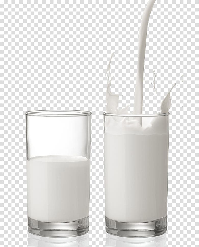 Two glass of milk, Plant milk Glass Cup Dairy product, Two.
