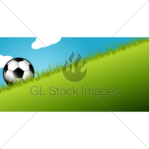 Soccer Ball In Long Grass · GL Stock Images.