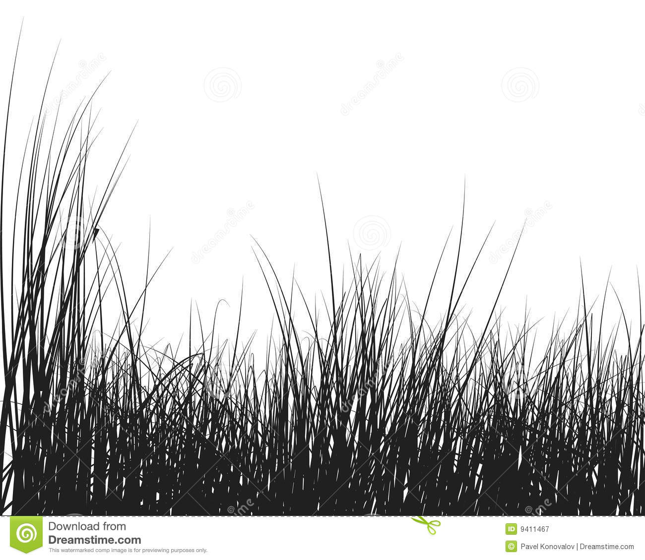 Grass Silhouette Royalty Free Stock Photography.