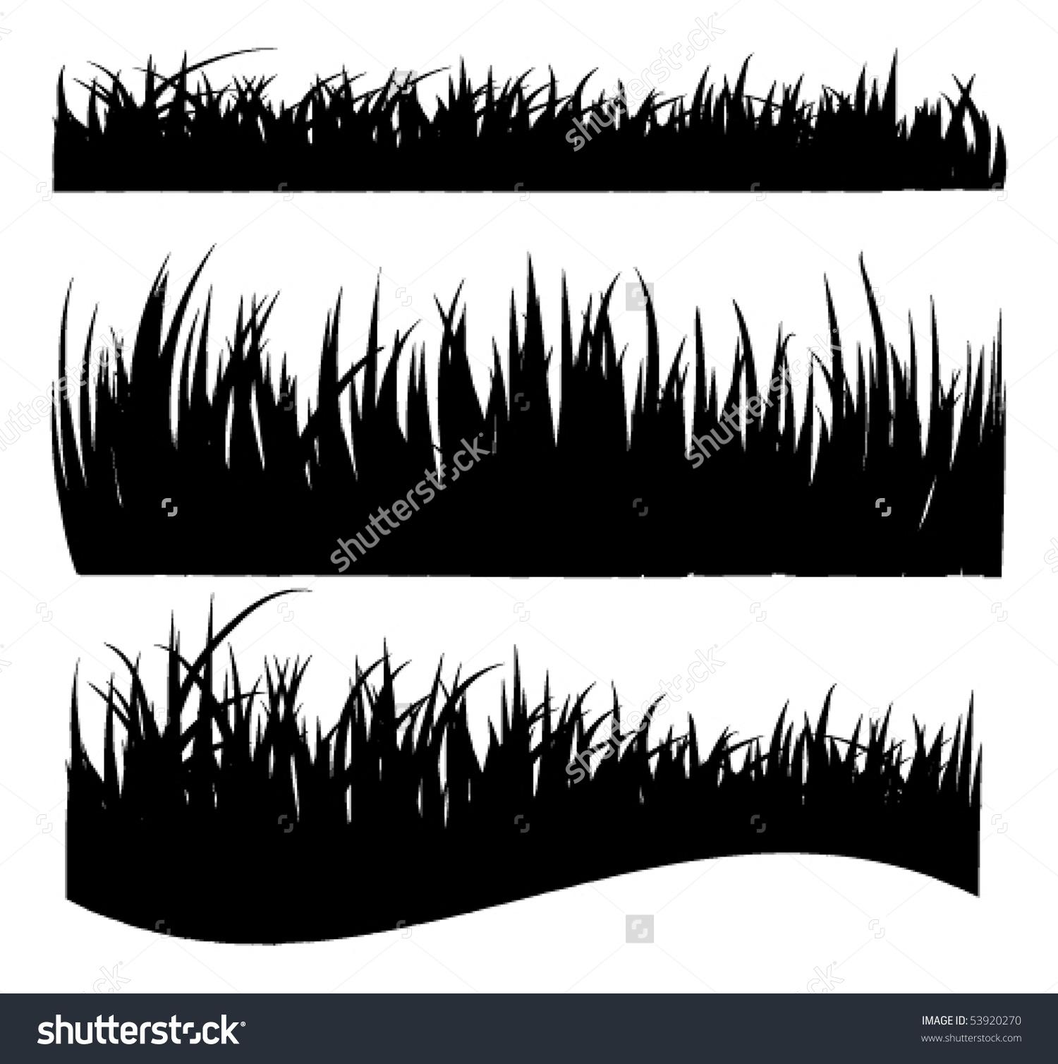 Vector Grass Silhouettes Stock Vector 53920270.