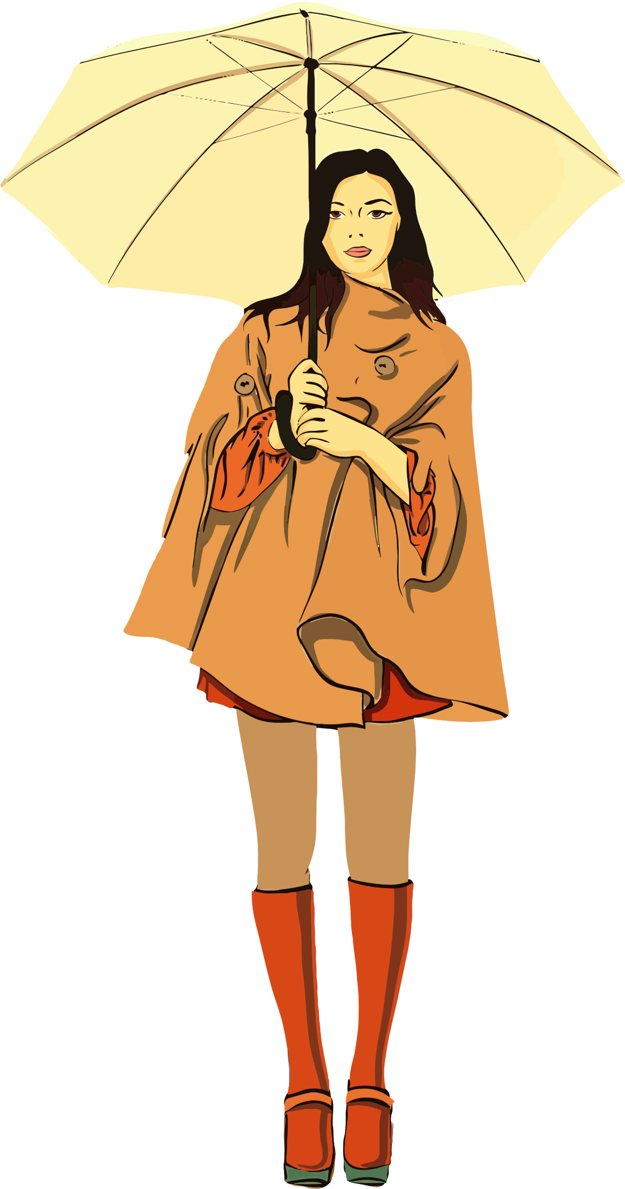 Person With Umbrella Clipart.