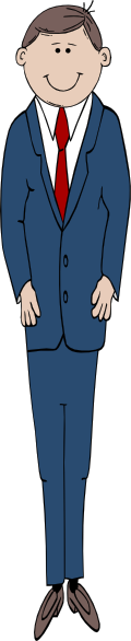 Tall Man In Suit Clip Art at Clker.com.