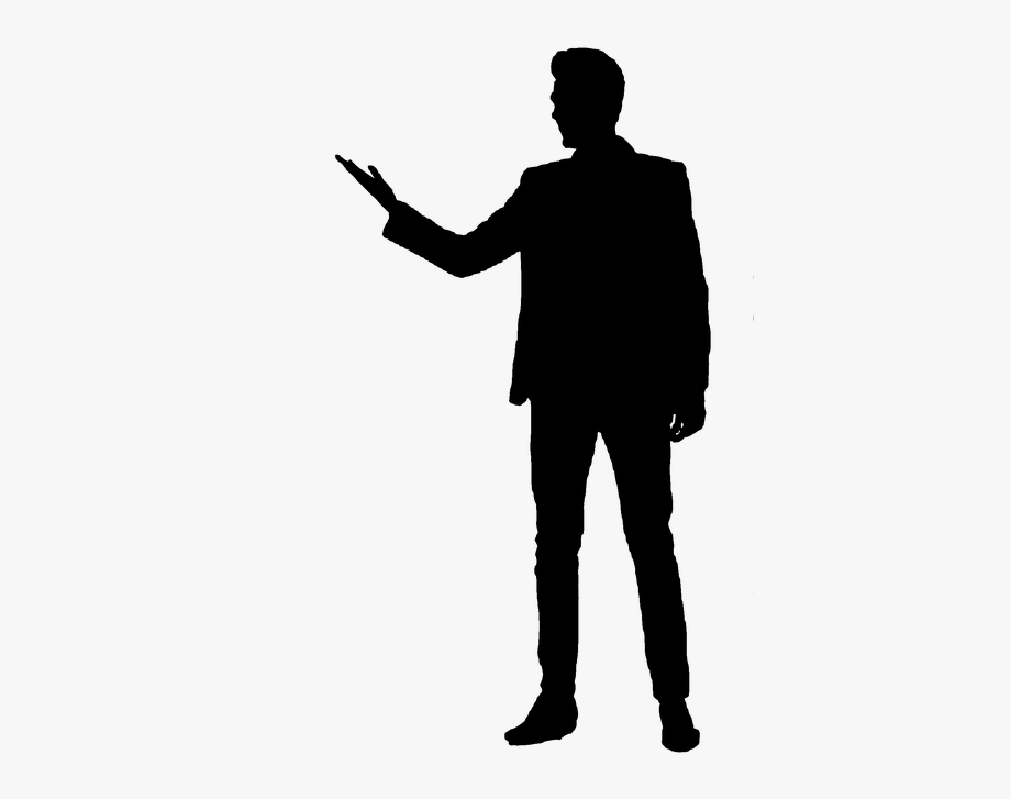 People Silhouette Clipart Tall Man.