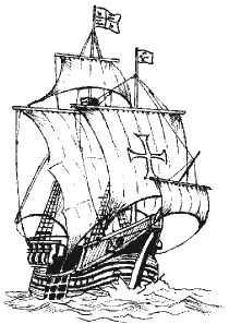 Tall ship clip art.