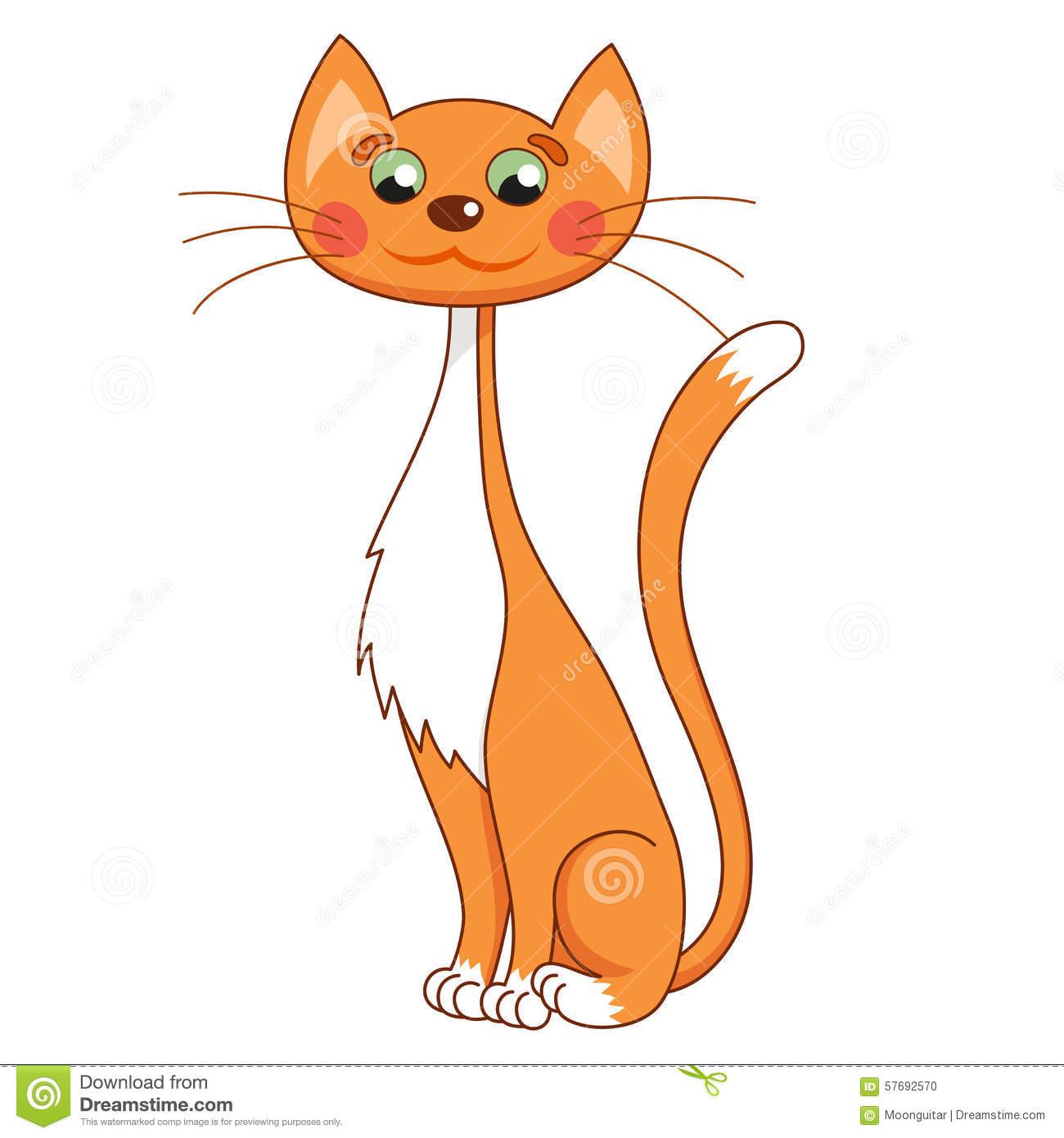 tall skinny cat clipart cat #3