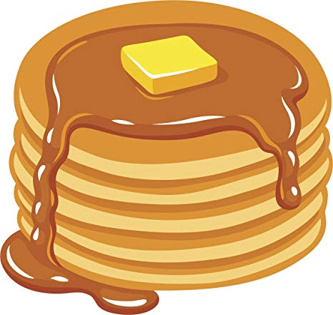Delicious Hot Breakfast Pancakes With Butter And Syrup Vinyl Decal Sticker  (2\