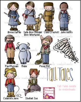 Tall Tales clip art.
