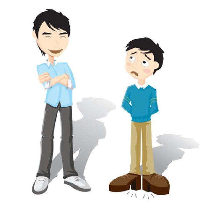 Short men desperate to look taller.