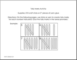 Tally Mark Activity (primary/elem) Clip Art.