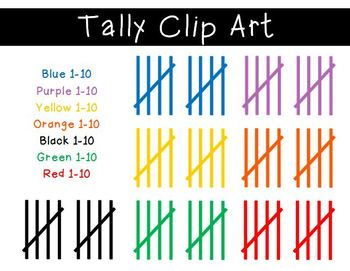 Tally cliparts.