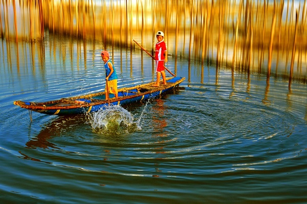 Tam Giang lagoon Huế, Thua Thien Hue, Vietnam.