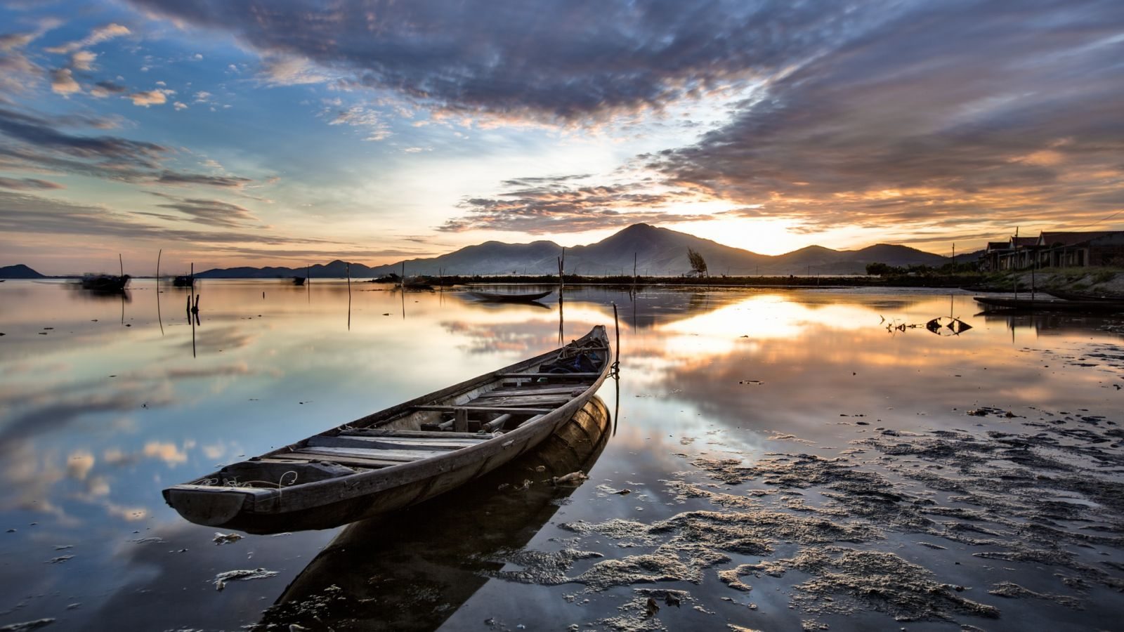 Yellow Tam Giang Lagoon.