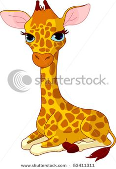 cartoon giraffes.