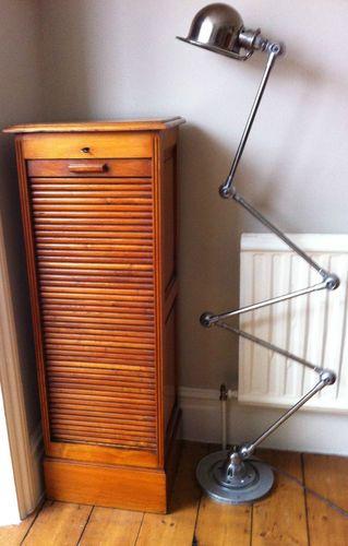 Vintage oak filing cabinet.