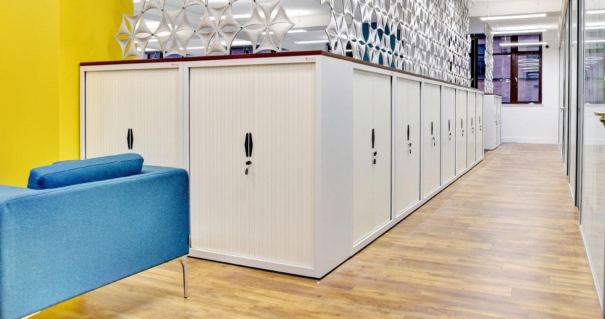 Tambour Storage units.