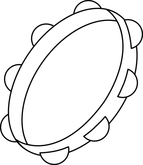 Free Tambourine Clipart Black And White, Download Free Clip.