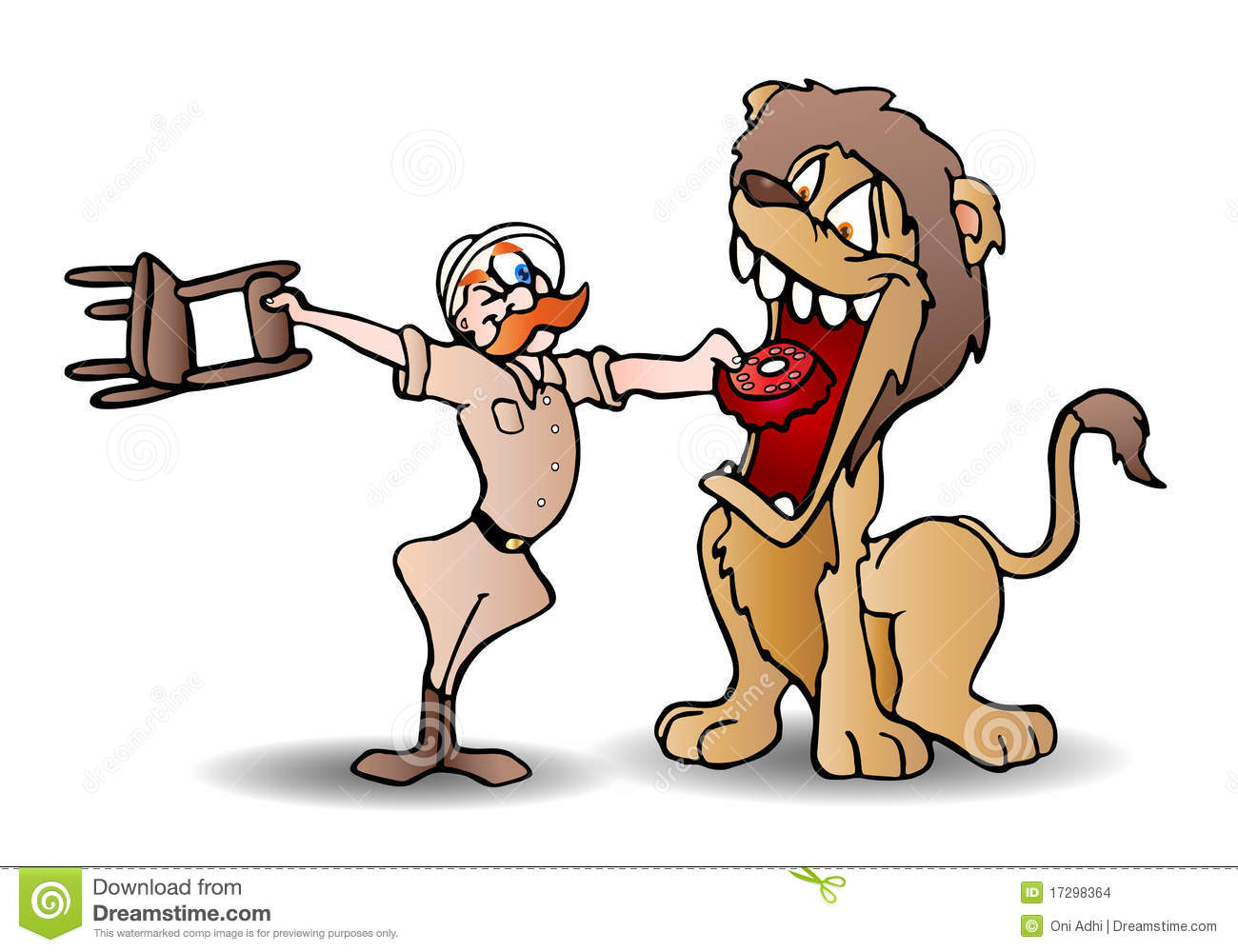 Images: Circus Lion Tamer Clipart.
