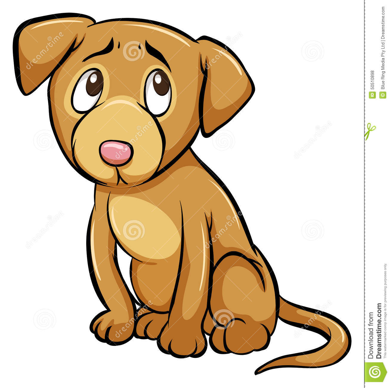 A Tamed Dog Stock Vector.