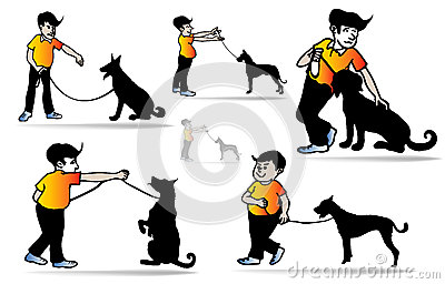 Man And Dog Stock Photography.