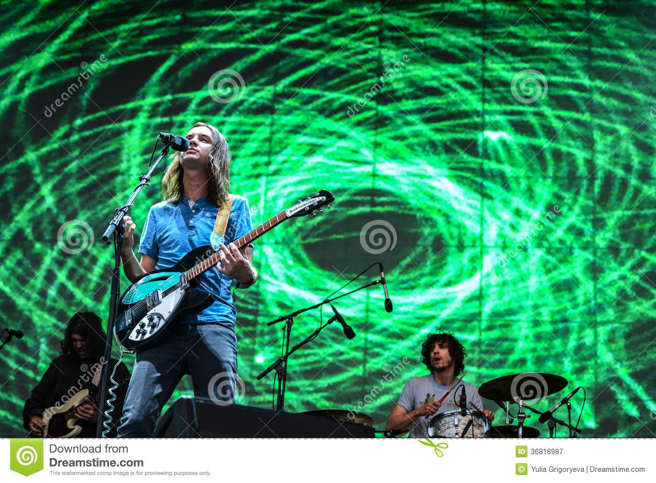 Tame Impala Concert Editorial Photography.