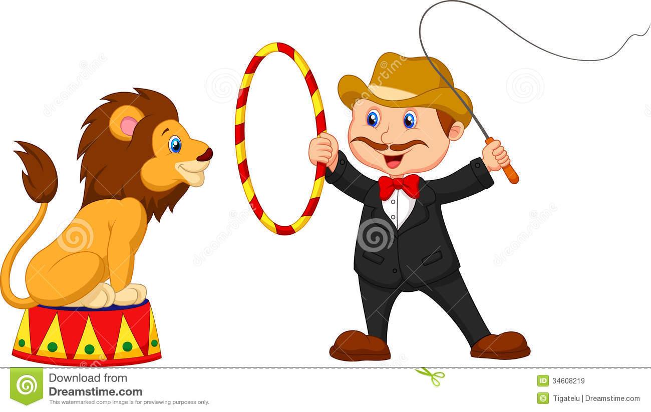 Circus lion tamer clipart.