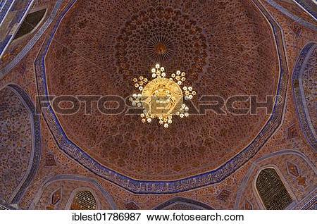 Picture of Interior cupola of Gur Emir, Gur.