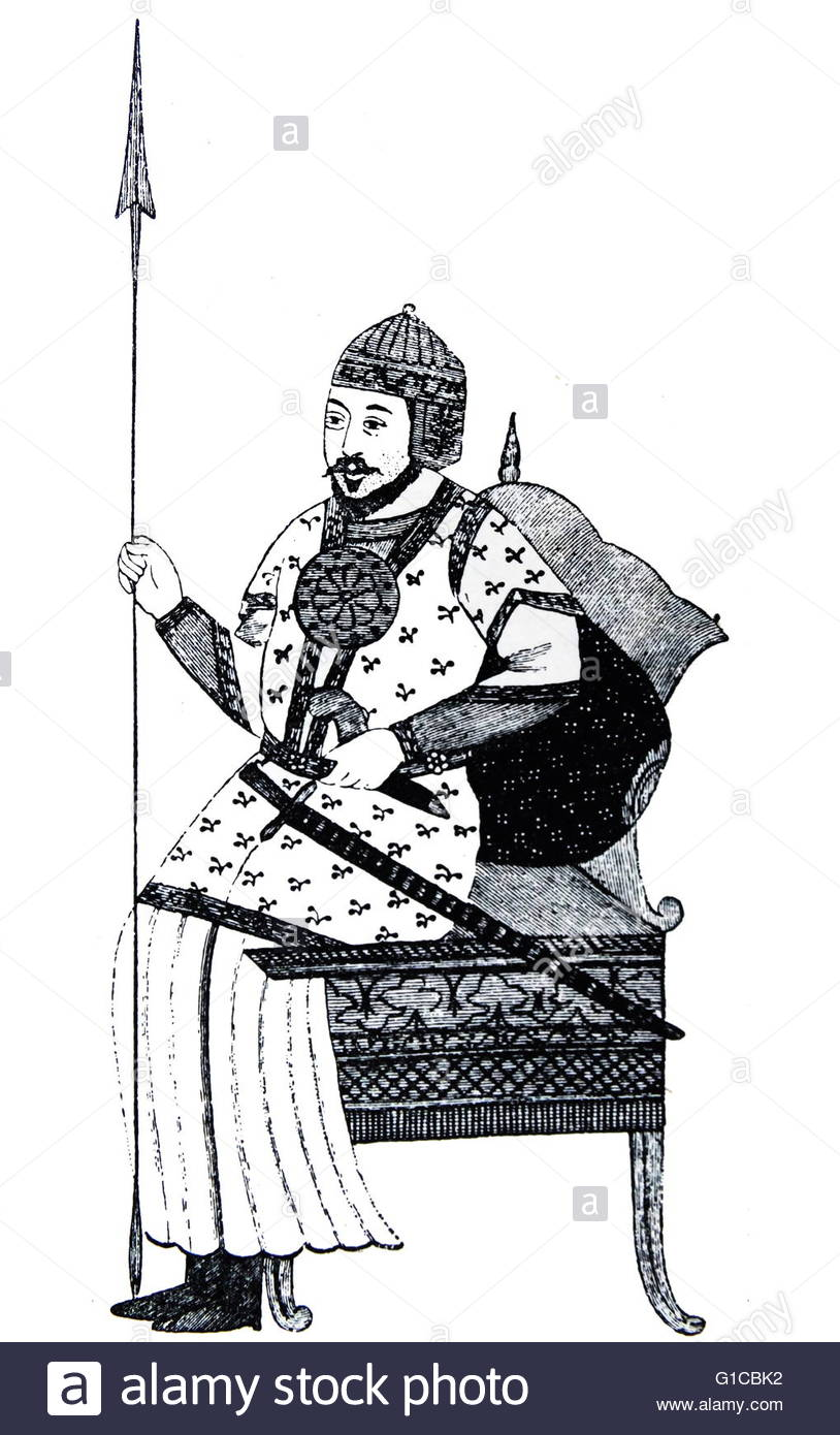 Engraving Depicting The Great Timur, Or Tamerlane, The Mongol.