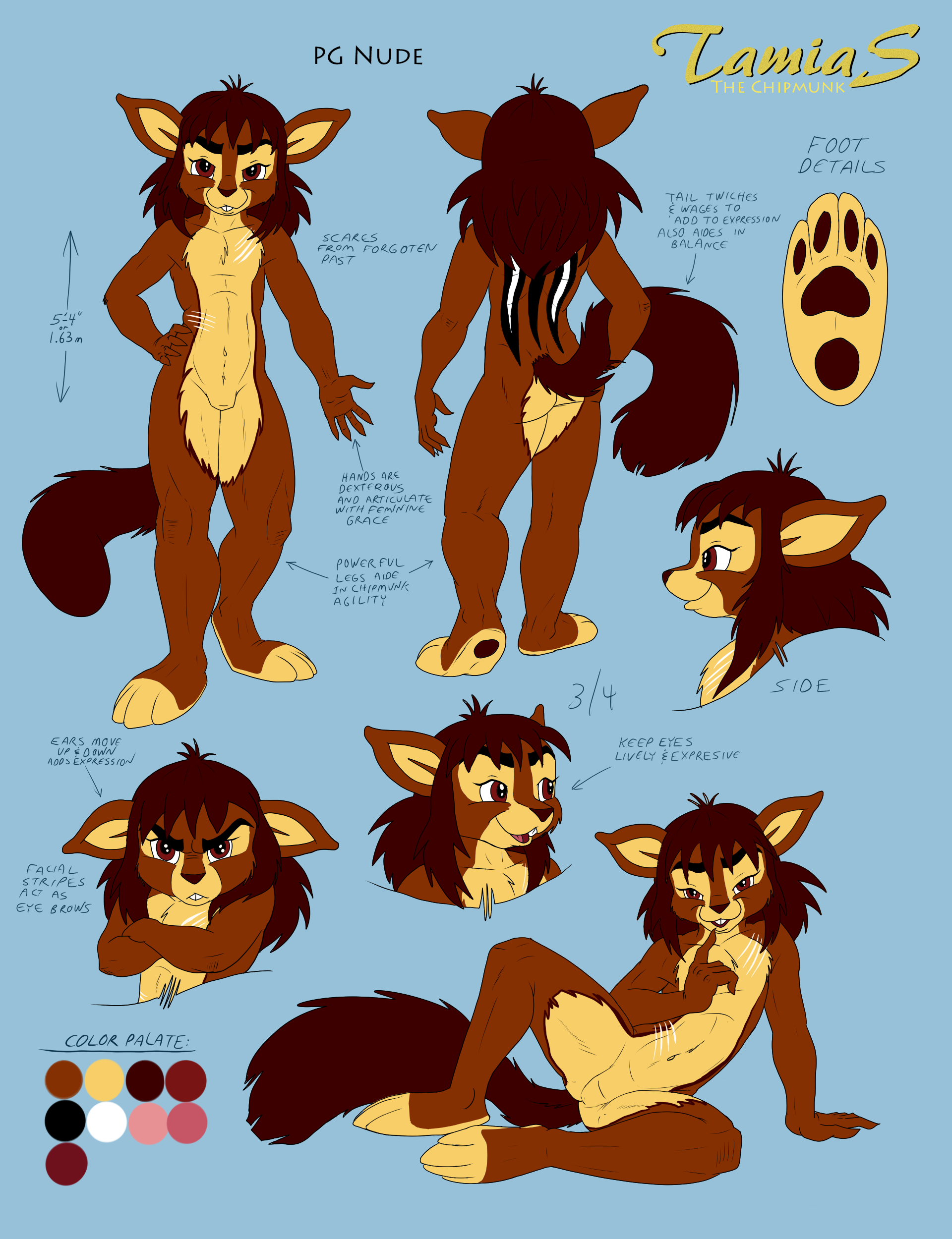 Tamias the Chipmunk PG Nude Reference Sheet by tamias6 on DeviantArt.
