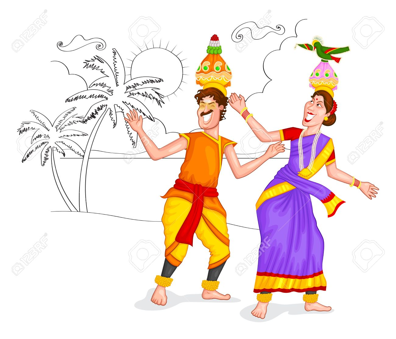 Tamil Culture Clipart.