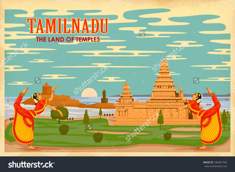 Illustration Depicting Culture Tamilnadu India Stock Vector.