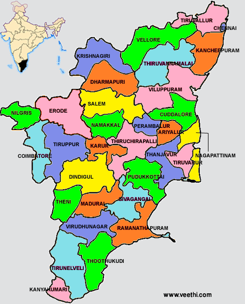 Tamilnadu map.