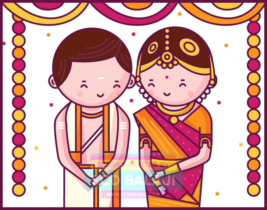 Quirky Indian Wedding Invitations.