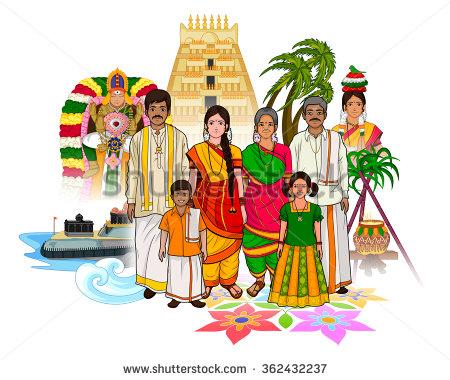 Tamil culture cliparts.