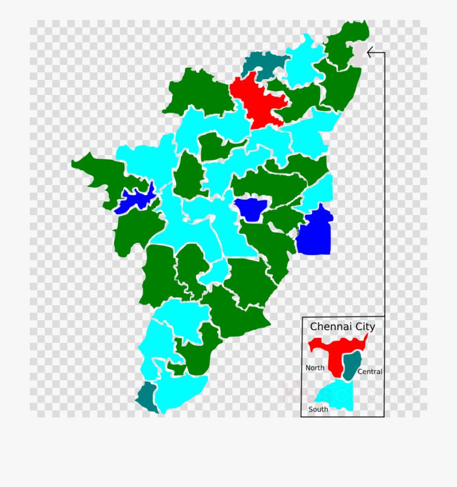Tamil Nadu Map Png Transparent Background.