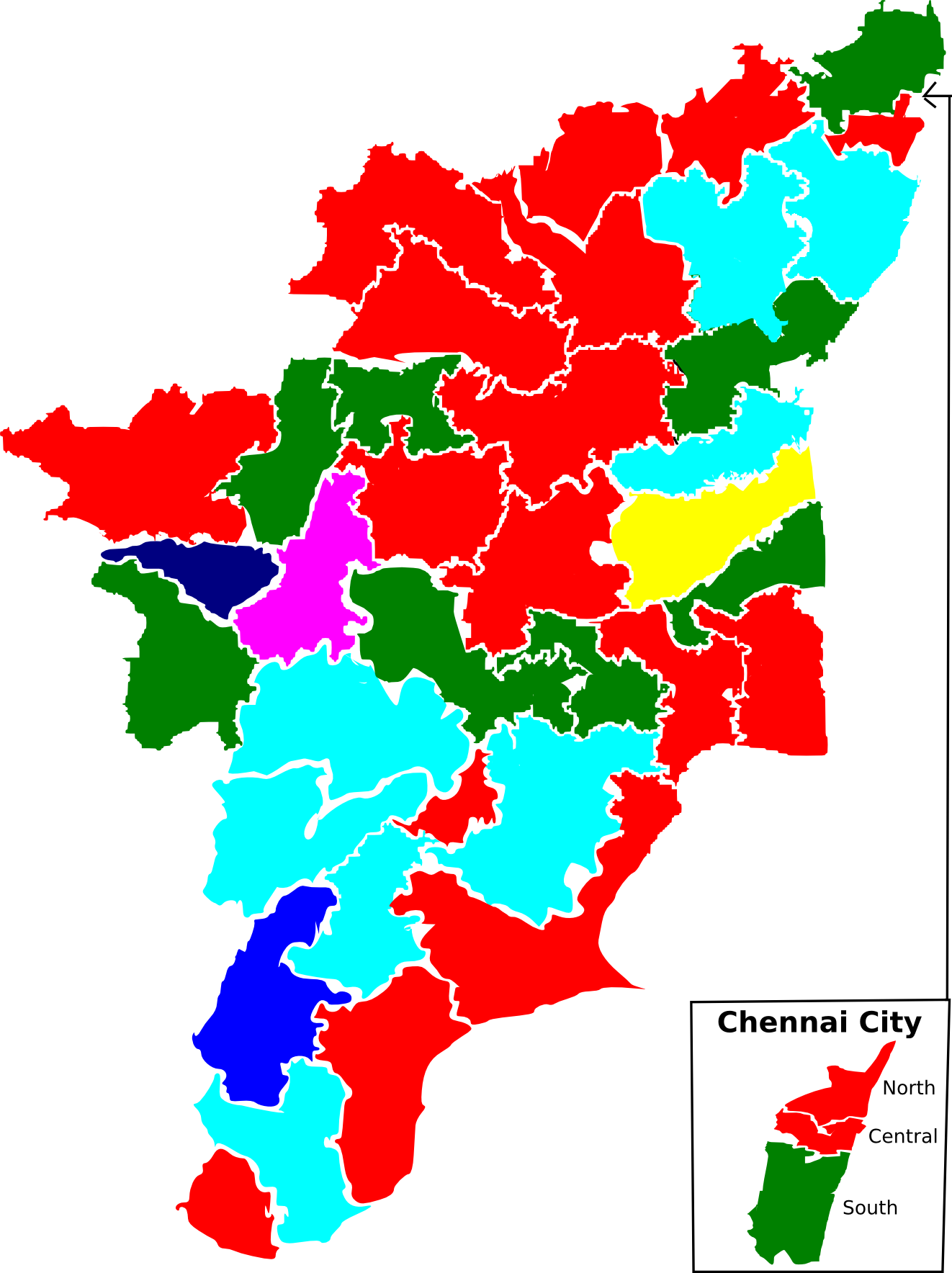 File:2009 tamil nadu lok sabha election map by parties.png.