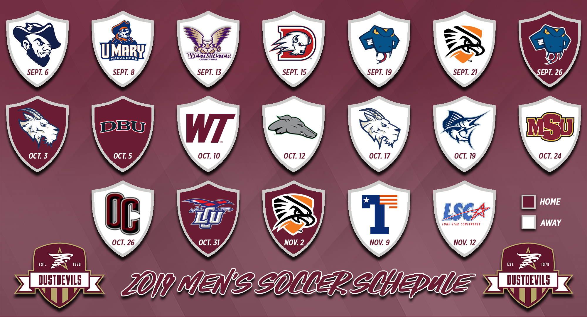 TAMIU men\'s soccer announces 2019 schedule.
