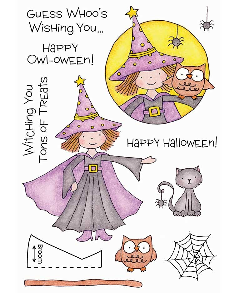 Halloween Witch Clear Stamp Set 11116MC.