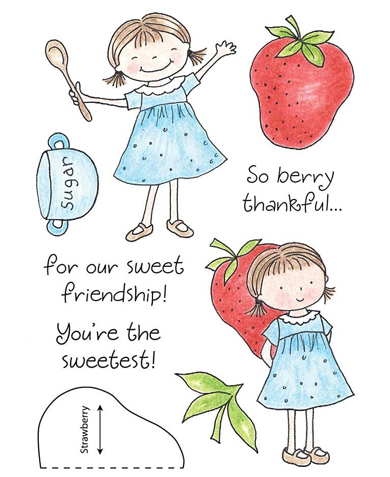 Berry Sweet Clear Stamp Set 11169MC.