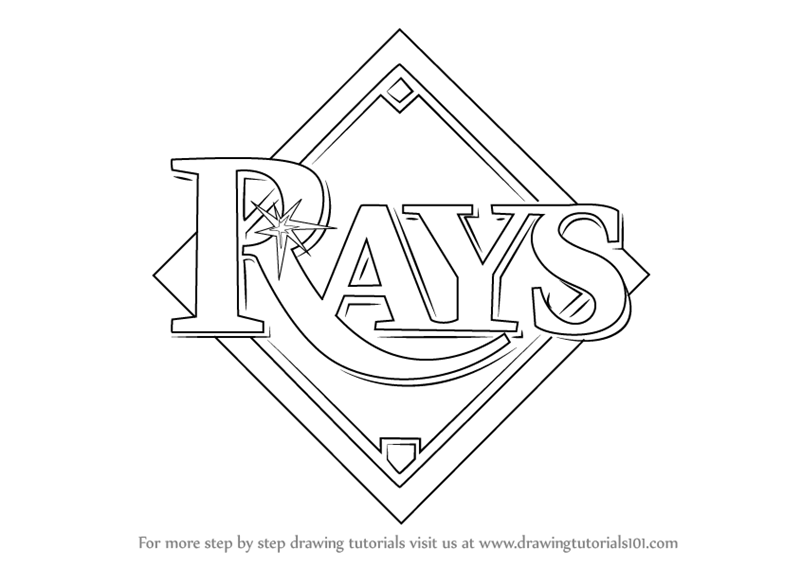 Learn How to Draw Tampa Bay Rays Logo (MLB) Step by Step.
