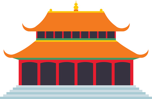 Chinese temple clipart.