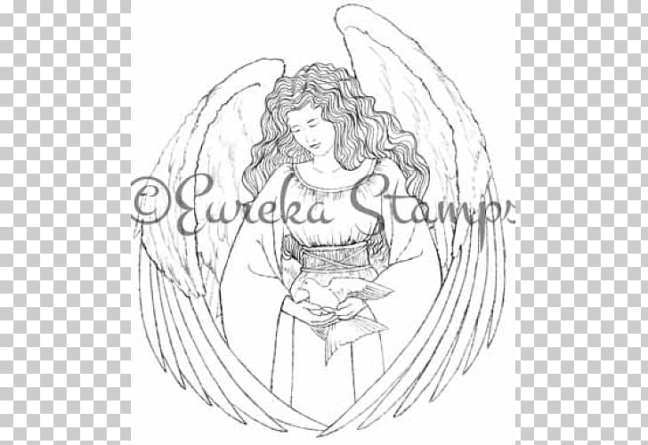 Line art Cartoon White Sketch, tampon PNG clipart.