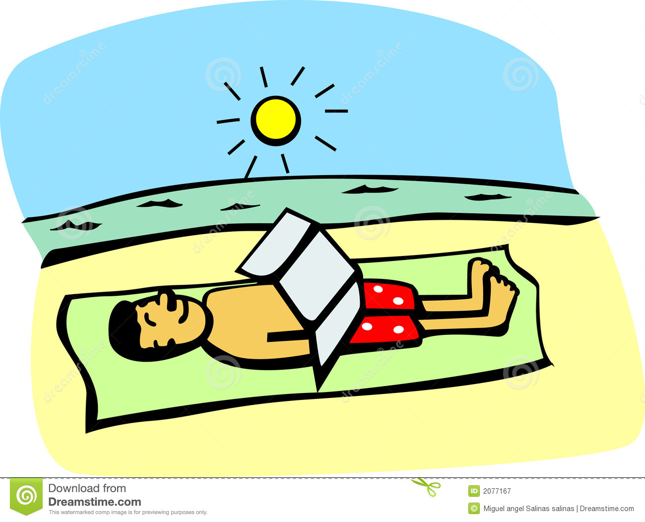 Tanning Clipart.