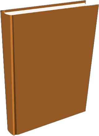 Free Brown Book Clipart.