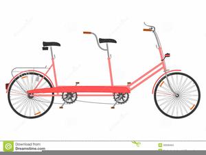 Wedding Tandem Bike Clipart.
