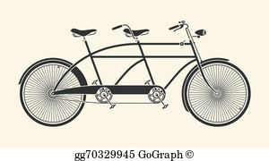 Tandem Bicycle Clip Art.